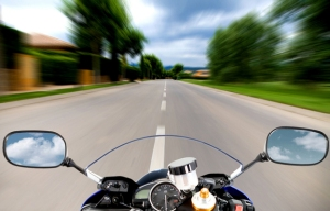 Motorcycle at high speed